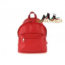 Taliansky kožený batoh 666 červený MADE IN ITALY