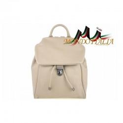 Taliansky kožený batoh 7007 šedohnedý MADE IN ITALY 7007