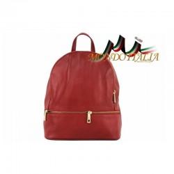 Taliansky kožený batoh 7011 červený MADE IN ITALY 7011