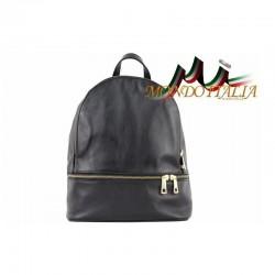 Taliansky kožený batoh 7011 čierny MADE IN ITALY 7011