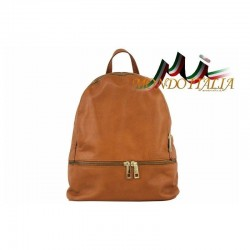 Taliansky kožený batoh 7011 koňak MADE IN ITALY 7011