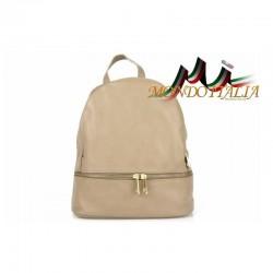 Taliansky kožený batoh 7011 šedohnedý MADE IN ITALY 7011