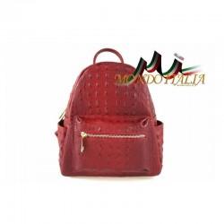 Taliansky kožený batoh 9705 červený MADE IN ITALY 9705