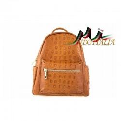 Taliansky kožený batoh 9705 koňak MADE IN ITALY 9705