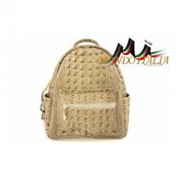 Taliansky kožený batoh 9705 šedohnedý MADE IN ITALY 9705
