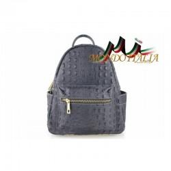 Taliansky kožený batoh 9705 tmavošedý MADE IN ITALY 9705