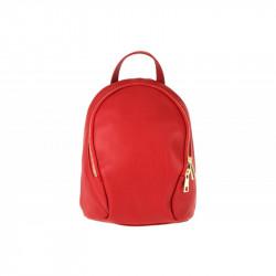 Taliansky kožený batoh červený, červená