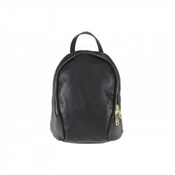 Taliansky kožený batoh čierny, čierna