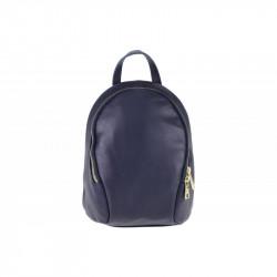 Taliansky kožený batoh modrý, modrá