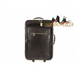 Taliansky kožený kufor na kolieskach 5005 tmavohnedý MADE IN ITALY 5005
