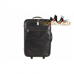 Taliansky kožený kufor na kolieskach 5005A čierny MADE IN ITALY 5005A