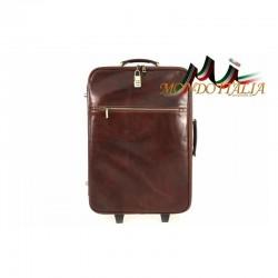 Taliansky kožený kufor na kolieskach 5005A hnedý MADE IN ITALY 5005A