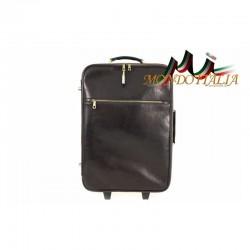 Taliansky kožený kufor na kolieskach 5005A tmavohnedý MADE IN ITALY 5005A