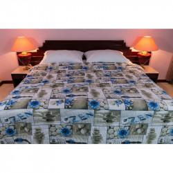 Taliansky posteľný prehoz ZEN modrý MADE IN ITALY, modrá