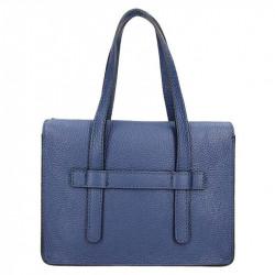 Tmavomodrá kožená kabelka 5302 MADE IN ITALY, modrá