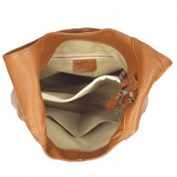 Tmavomodrá kožená kabelka na rameno 590, Modrá #1
