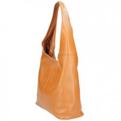 Tmavomodrá kožená kabelka na rameno 590, Modrá #2