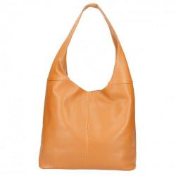Tmavomodrá kožená kabelka na rameno 590, Modrá #4