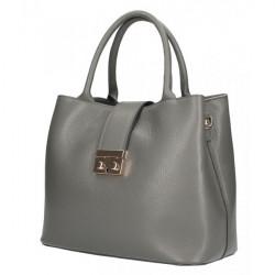 Tmavošedá kožená kabelka 5307, Grafitová