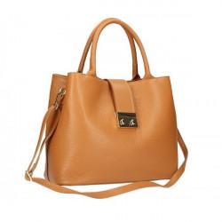 Tmavozelená kožená kabelka 1137 Zelená #4