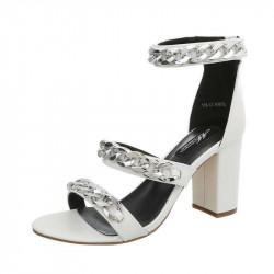 8fef1d0f427a Biele dámske sandále veľkosť 39 - Locca.sk