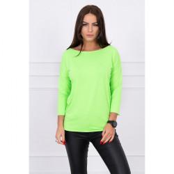 Tričko CASUAL MI8834 zelený neón Univerzálna Zelená/neón