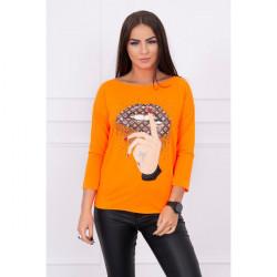 Tričko s farebnou potlačou MI64633 neónovo oranžové, Uni, Oranžová/neón
