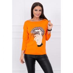 Tričko s farebnou potlačou MI64633 oranžové, Uni, Oranžová