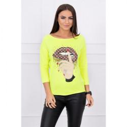 Tričko s farebnou potlačou MI64633, Uni, Žltá