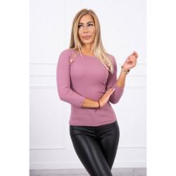 Tričko s ozdobnými gombíkmi MI5197 ružové, Uni, Ružová