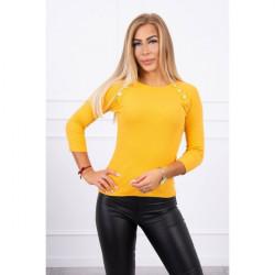 Tričko s ozdobnými gombíkmi MI5197, Uni, Žltá/neón