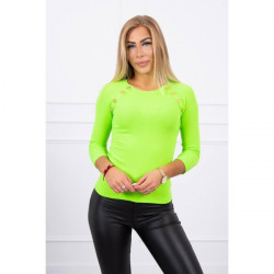 Tričko s ozdobnými gombíkmi MI5197 zelené, Uni, Zelená
