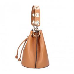 Vaková kožená kabelka 363 červená Červená #3