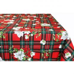 Vianočný bavlnený obrus 90x90 cm Made in Italy Červená 90 x 90 cm