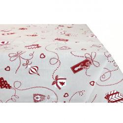 Vianočný obrus 90x90 cm Made in Italy Červená 90 x 90 cm