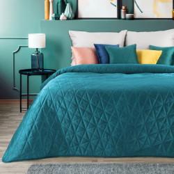 Zamatový prehoz na posteľ Luiz3 tmavotyrkysový Tyrkysová 200 x 220 cm