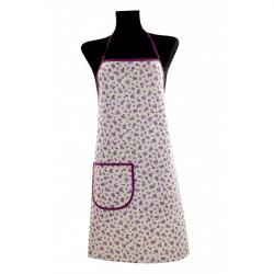 Zástera s vreckom 914 fialové kvety 65 x 76 cm Made in Italy, Fialová