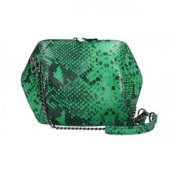 Zelená kožená kabelka 446, Zelená