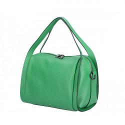 Zelená kožená kabelka 5316, Zelená
