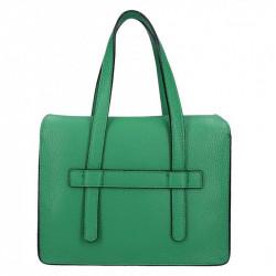 Zelená kožená kabelka Armei 5302 MADE IN ITALY, Farba zelená  5302