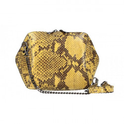 Žltá kožená kabelka 446, Žltá