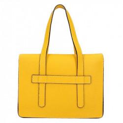da67a59170 Žltá kožená kabelka 5302 MADE IN ITALY