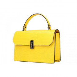 Žltá kožená kabelka do ruky 5314, Žltá