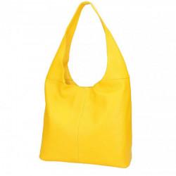 Žltá kožená kabelka na rameno 590 MADE IN ITALY, Žltá