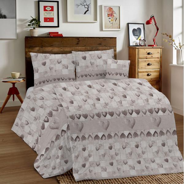 Bavlnené obliečky MIG002PT Patchwork béžové Made in Italy, Béžová, 140 x 200 cm