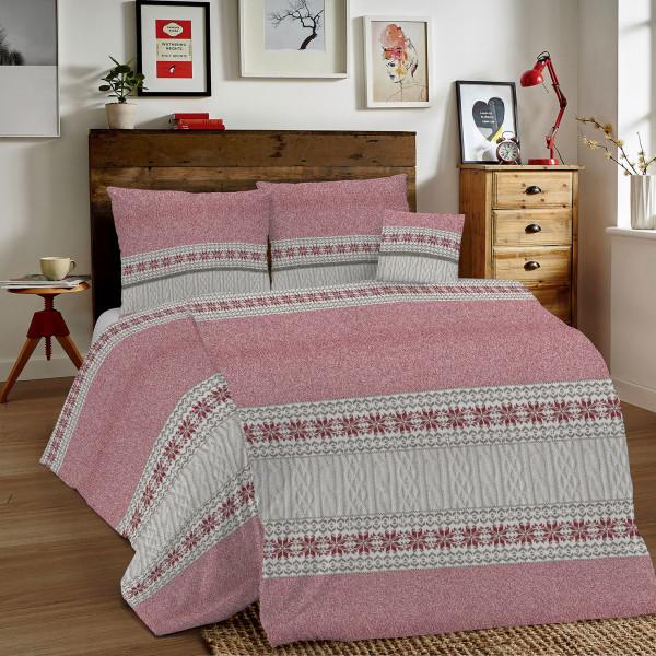 Bavlnené obliečky MIG002TR Trikot červené Made in Italy, Červená, 140 x 200 cm