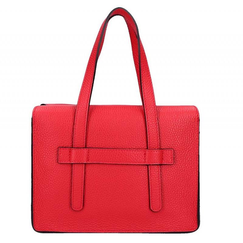 Červená kožená kabelka Armei 5302 MADE IN ITALY, Farba červená  5302