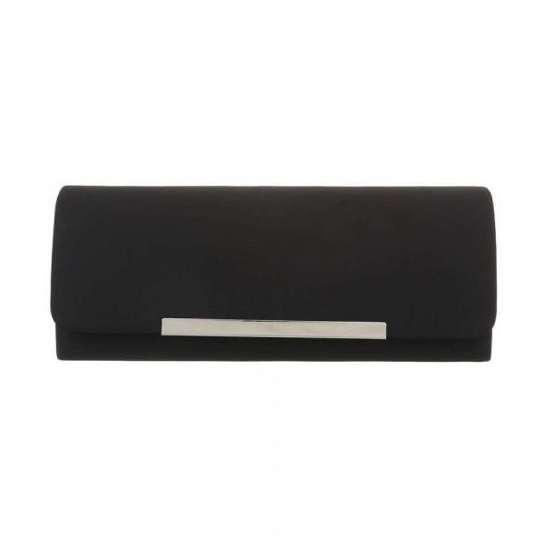 Čierna spoločenská kabelka 399B Michelle Moon, Čierna