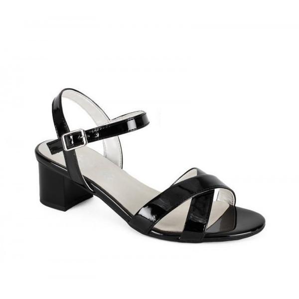 Čierne dámske sandále 1121 ZODIACO, Čierna, 40