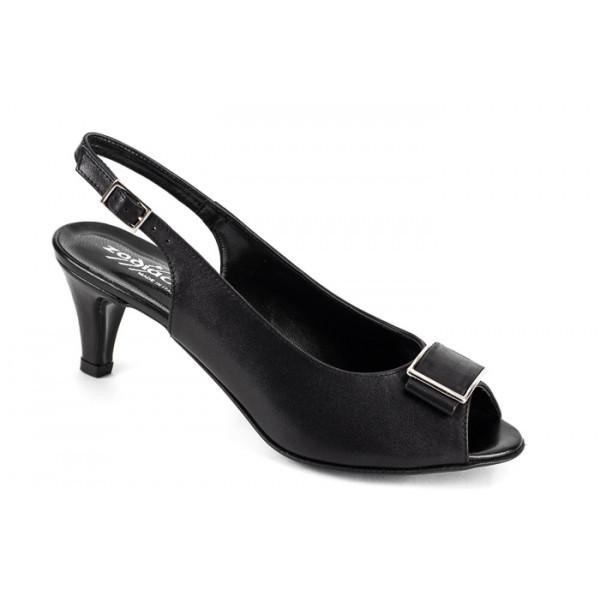 Čierne sandále 1098 ZODIACO, Čierna, 40